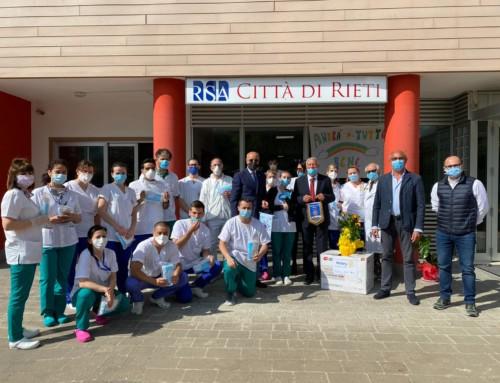 Rotary Club donazione di mascherine Alla Rsa Città di Rieti e Rsa Santa Rufina